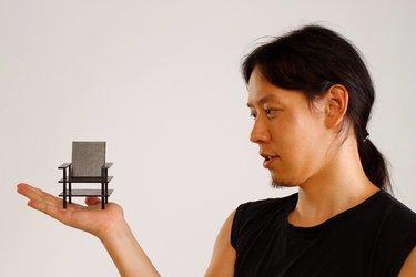 Maquette van een fauteuil
