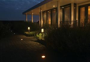 Geïntegreerde tuinverlichting
