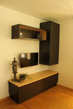 Houten TV-meubel op maat