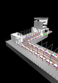 3D Inrichting van Bar-Restaurant