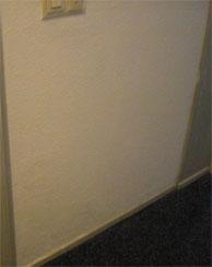 Muur na het schilderen