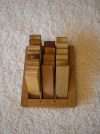 Stalen van verschillende houtsoorten