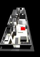 woonkamer ontworpen met de computer