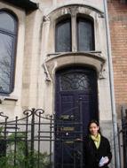 art nouveau huis