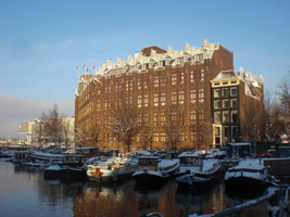 Amsterdam Amrath Hotel van de achterkant