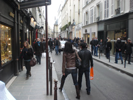 Winkels in Le Marais, Parijs