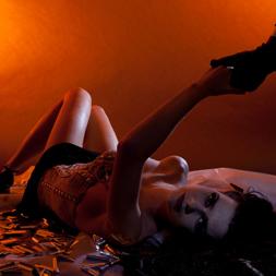 Valerie Boersma als model in fotoshoot