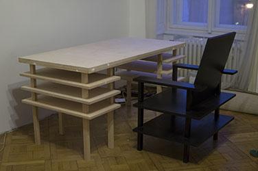 Zelf bureau en stoel maken
